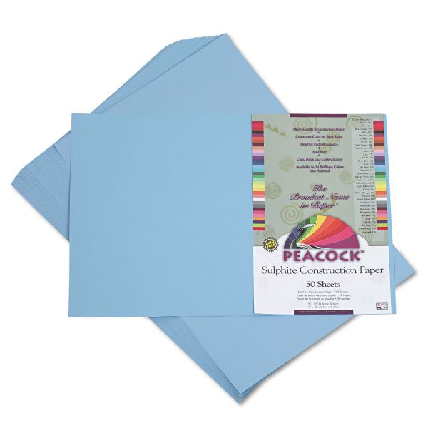 Peacock Sulphite Blue Construction Paper