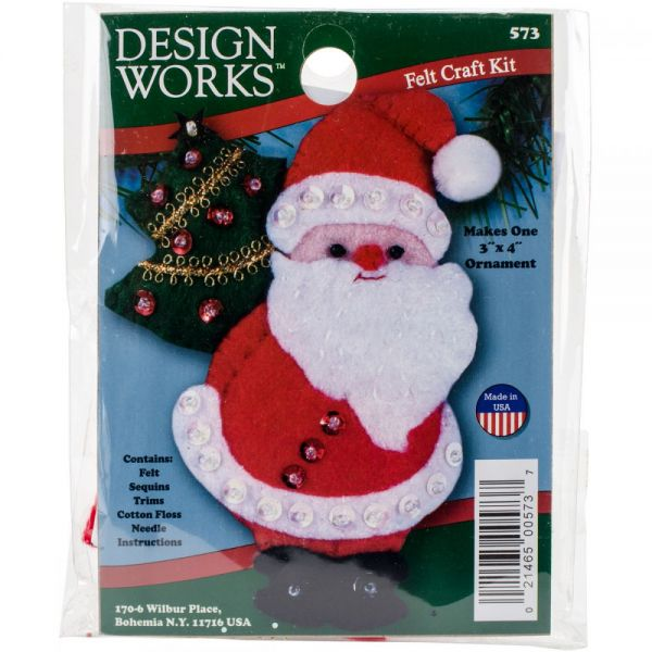 Santa Ornament Felt Applique Kit