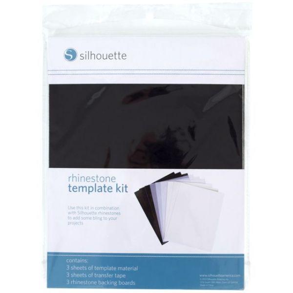"Silhouette Rhinestone Template Material 8.5""X11"" 6/Pkg"