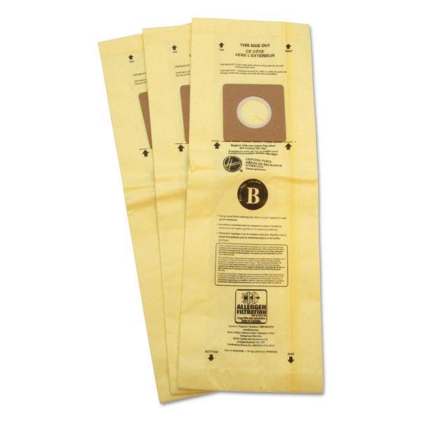 Hoover Commercial Disposable Vacuum Bags, Allergen B, 3/Carton