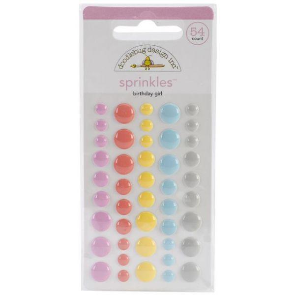 Sugar Shoppe Sprinkles Glossy Enamil Stickers 45/Pkg