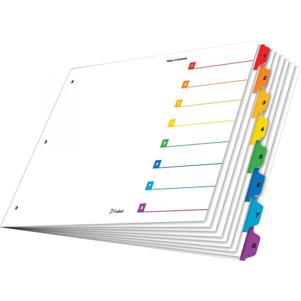 "Cardinal 11"" x 17"" OneStep Numbered Index Dividers"