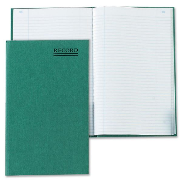 National Emerald Series Account Book, Green Cover, 200 Pages, 9 5/8 x 6 1/4