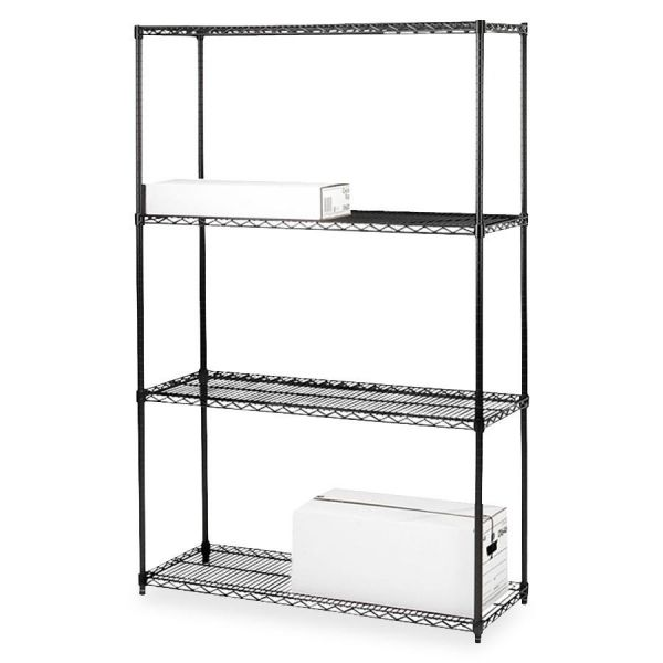 Lorell 4-Shelf Starter Unit Wire Shelving