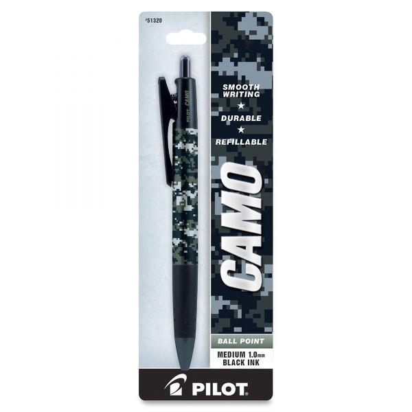 Pilot Camo Navy Refillable Retractable Ballpoint Pen