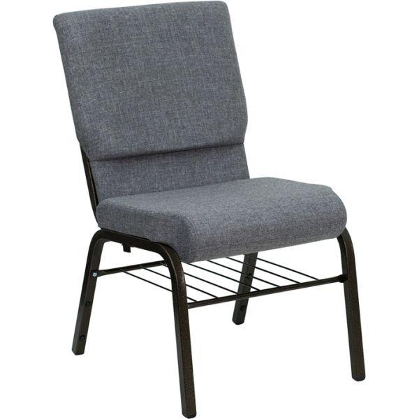 Flash Furniture Gray Fabric Big & Tall Church Chair