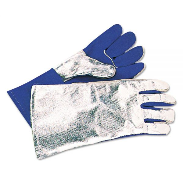 Anchor Brand 42AL Welding Gloves, Aluminized Back, Split Cowhide Front, Large