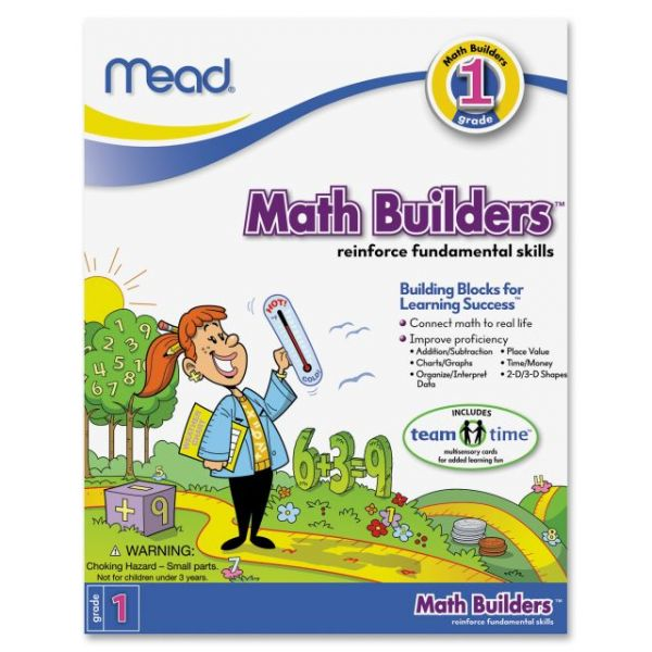 Mead First Grade Math Builders Workbook Education Printed Book for Mathematics