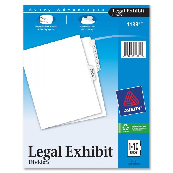 Avery Premium Collated Legal Index Dividers