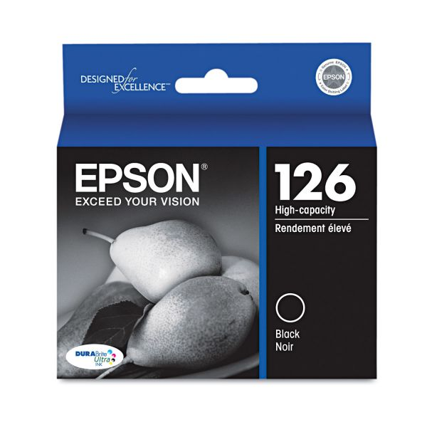 Epson T126120 (126) DURABrite Ultra High-Yield Ink, Black