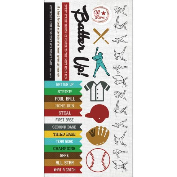 """Game On! Cardstock Stickers 6""""X12"""""""