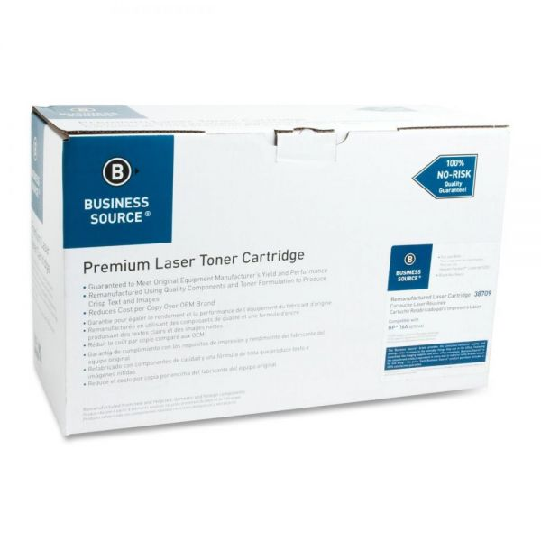 Business Source Remanufactured HP 16A (Q7516A) Toner Cartridge