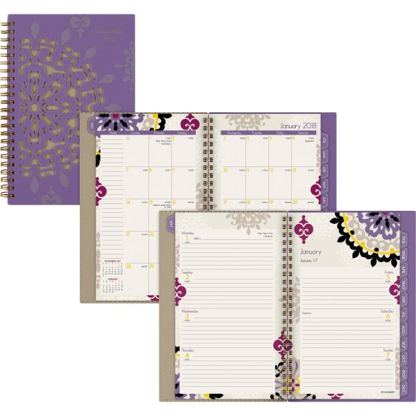 AT-A-GLANCE Vienna Weekly/Monthly Appointment Book, 4 7/8 x 8, Purple, 2018
