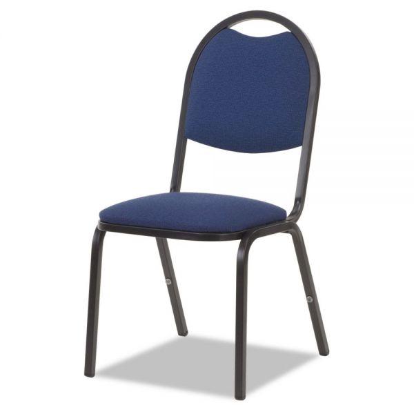 Virco Fabric Upholstered Stack Chair, 18w x 22d x 35-1/2h, Sedona Blue/Black, 4/Carton