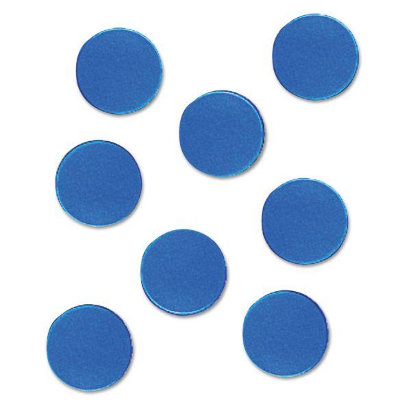 "Quartet Magnetic Circles, 3/4"" Diameter, Blue, 20 per Set"