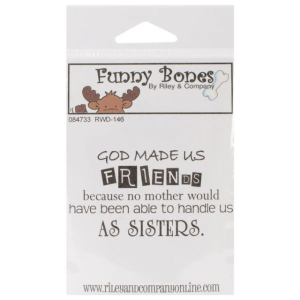 "Riley & Company Funny Bones Cling Mounted Stamp 2""X1.25"""