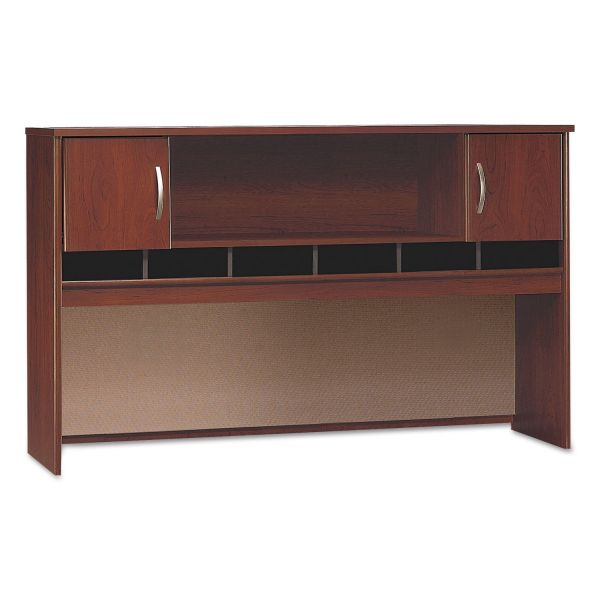 Bush Series C Collection 2 Door 72W Hutch, Box 2 of 2, Hansen Cherry