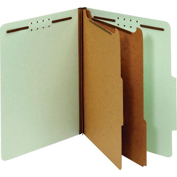 Globe-Weis Recycled Light Green Pressboard Classification Folders