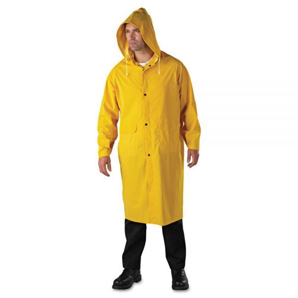 Anchor Brand Raincoat, PVC/Polyester, Yellow, 2X-Large