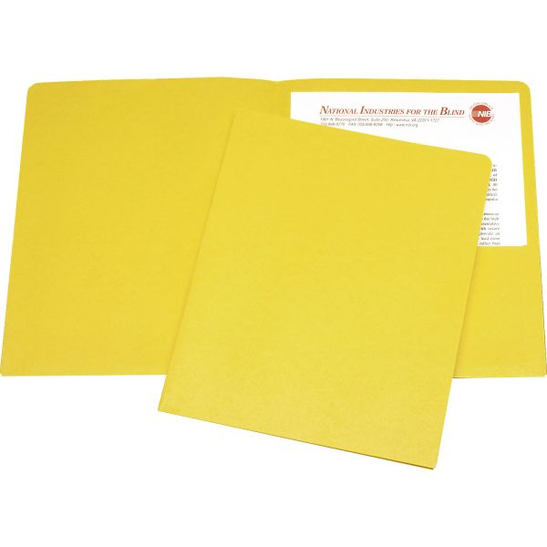 Skilcraft Yellow Two Pocket Folders