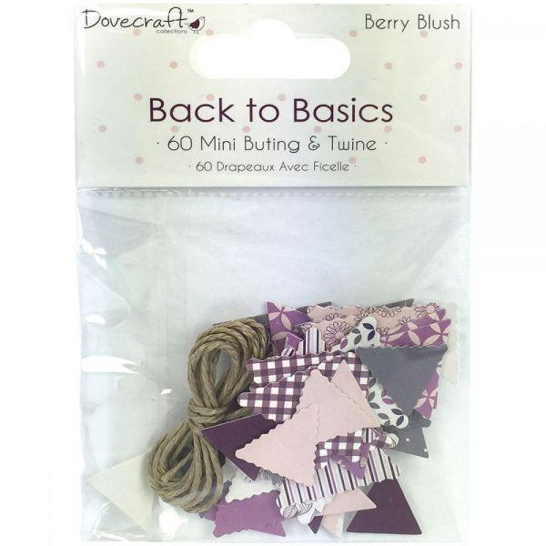 Dovecraft Back To Basics Berry Blush Mini Bunting
