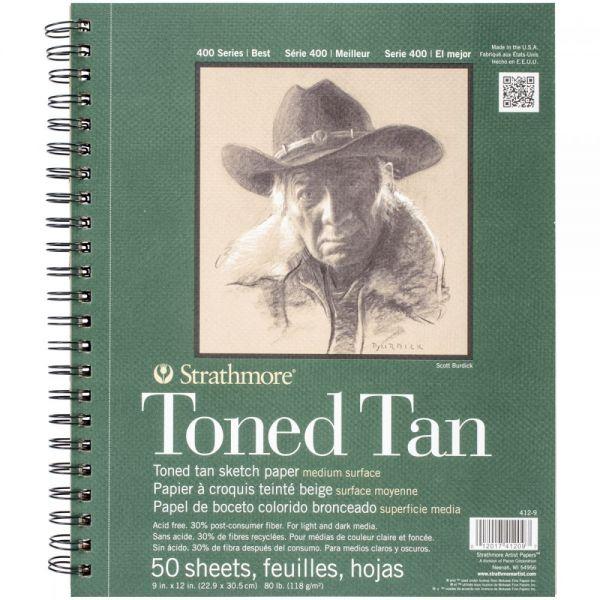 Strathmore Toned Tan Acid Free Sketch Book