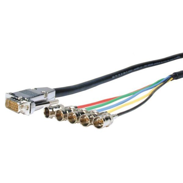 Comprehensive Pro AV/IT Series VGA HD15 plug to 5 BNC jacks cable 6ft