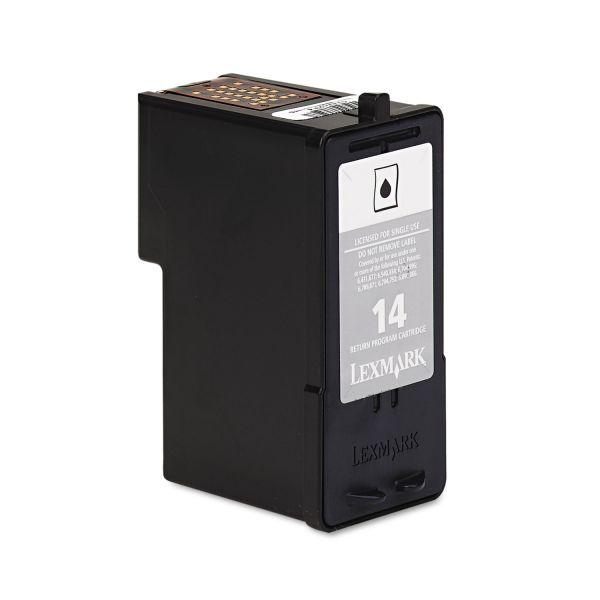 Lexmark #14 Black Return Program Ink Cartridge (18C2090)