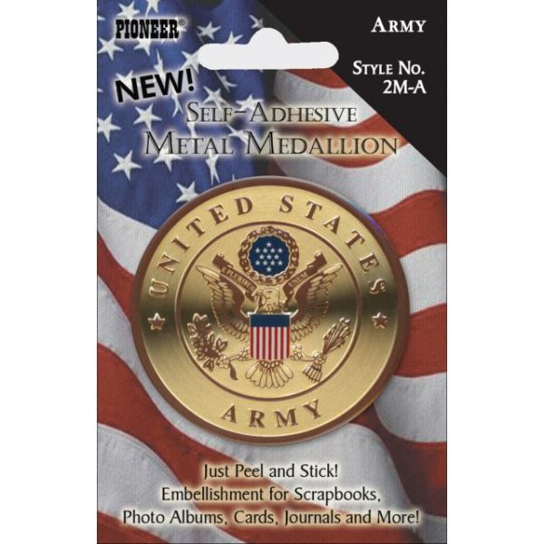 "Military Self-Adhesive Metal Medallion 2"""