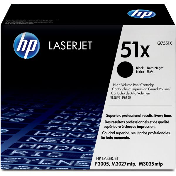 HP 51X Black Toner Cartridge (Q7551X)