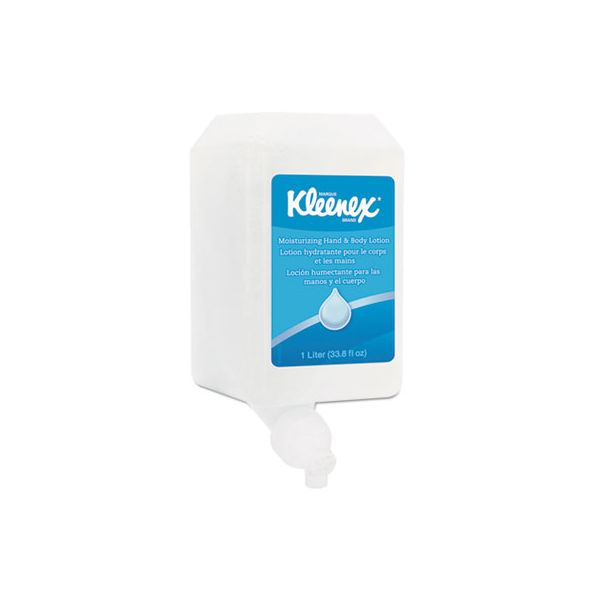 Kleenex Moisturizing Hand & Body Lotion, Fresh Scent, 1 L Bottle, 6/CT