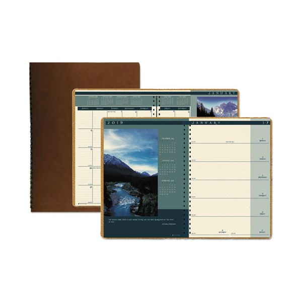 House of Doolittle Recycled Landscapes Weekly/Monthly Planner, 8 1/2 x 11, Brown, 2019
