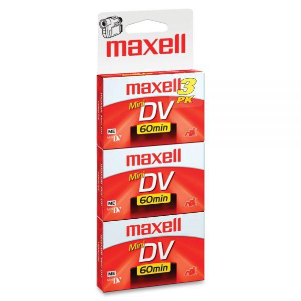Maxell Premium Grade Mini DV Video Cassette, 60 Minutes