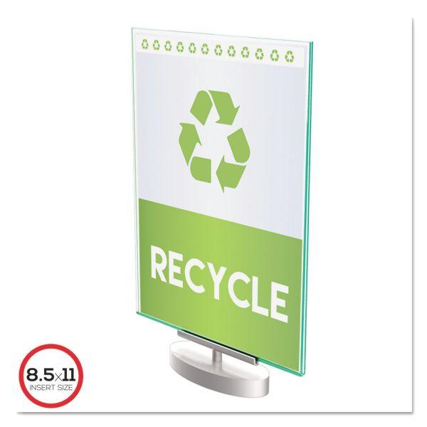 deflect-o Superior Image Swivel Base Sign Holder