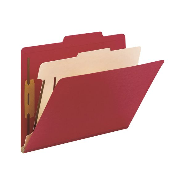 Smead Top Tab Red Classification Folders