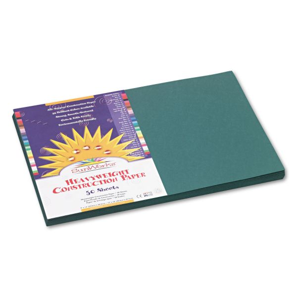 SunWorks Groundwood Green Construction Paper