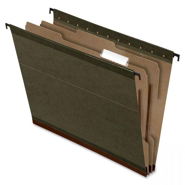 Pendaflex SureHook 2-Div Green Hanging Folders