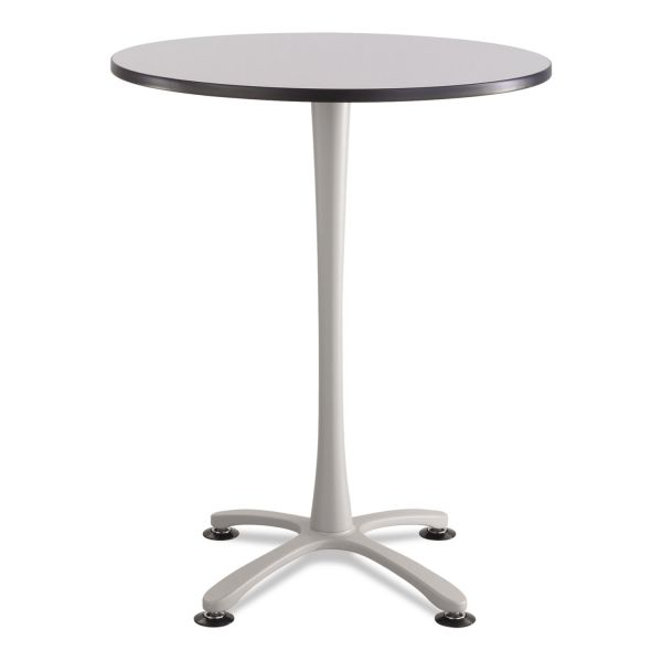 "Safco Cha-Cha Bistro Height Table Base, X-Style, Steel, 42"" High, Metallic Gray"