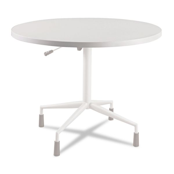 "Safco RSVP Series Round Table Top, Laminate, 42"" Diameter, Gray"