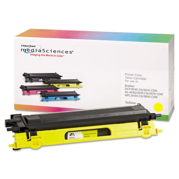 Media Sciences Remanufactured Brother TN115Y Yellow Toner Cartridge
