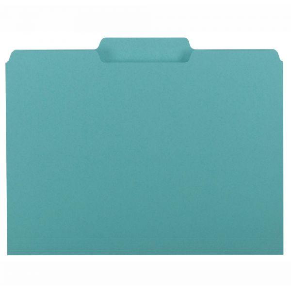 Smead Aqua Colored File Folders