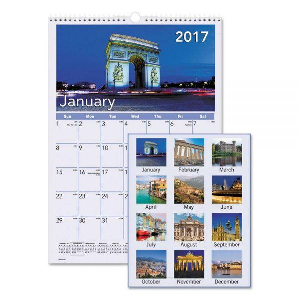 AT-A-GLANCE European Destinations Monthly Wall Calendar