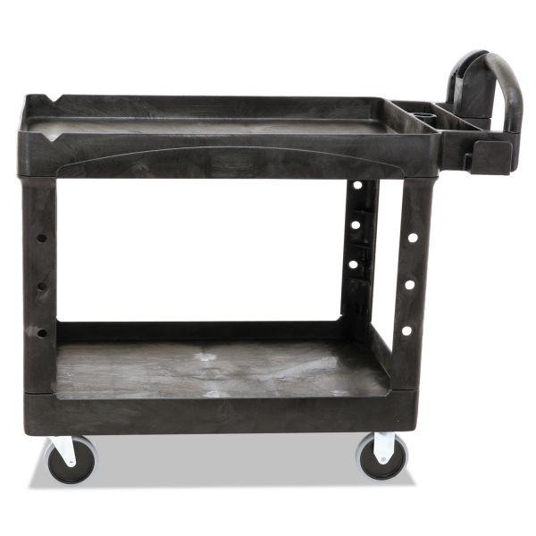 Rubbermaid Commercial Heavy-Duty Lipped-Shelf Utility Cart
