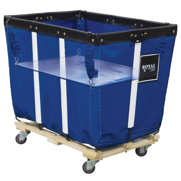 Royal Basket Trucks Spring Lift, 22 x 32, 12 Bushel, Vinyl/Steel, Blue