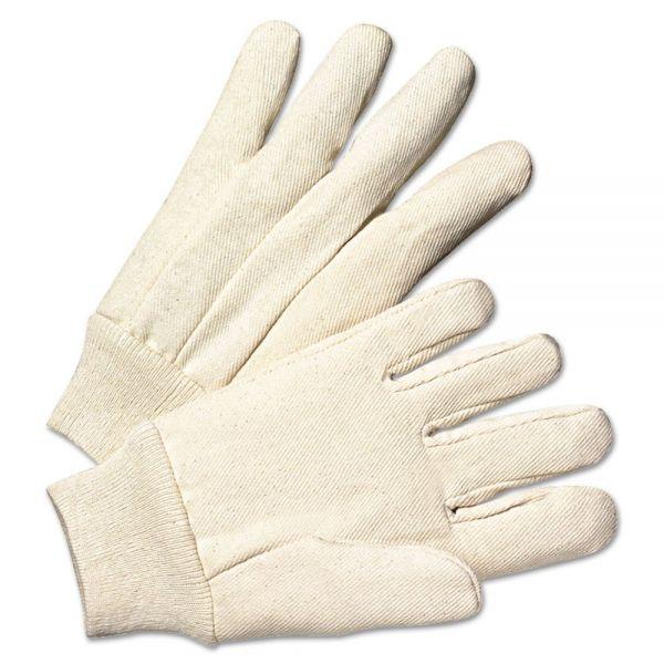 Anchor Brand Light-Duty Canvas Gloves, White, Dozen