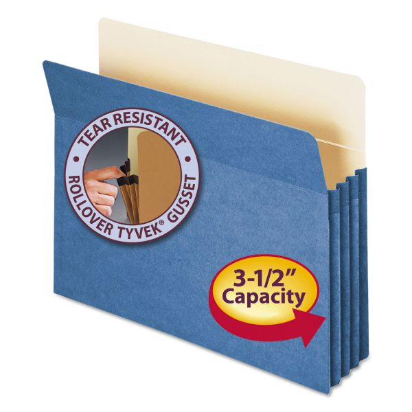 Smead 73225 Blue Colored Expanding File Pocket