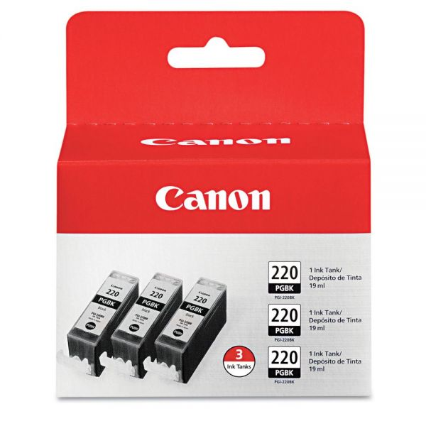 Canon PGI-220BK Black Multi-Pack Ink Cartridges