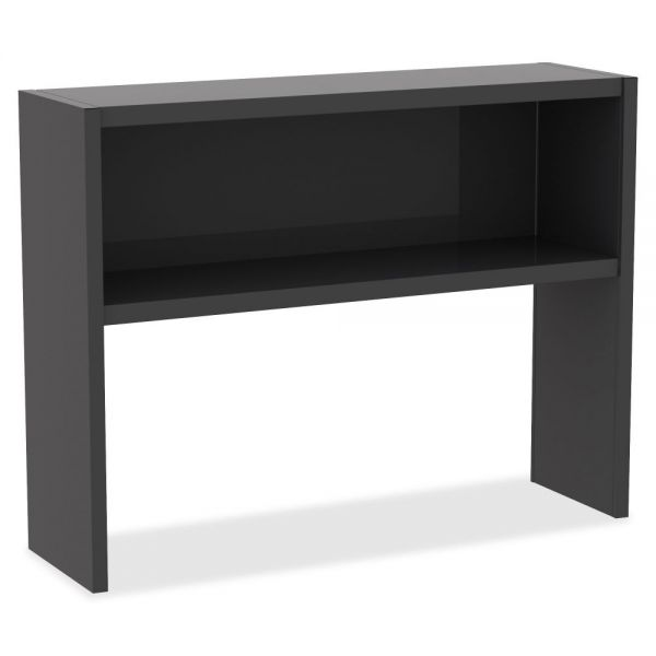 Lorell Charcoal Steel Desk Series Stack-on Hutch