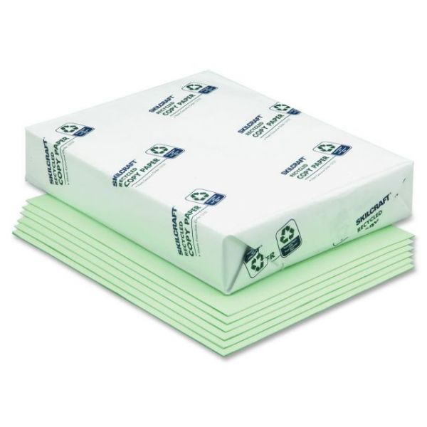 SKILCRAFT Recycled Colored Paper - Green