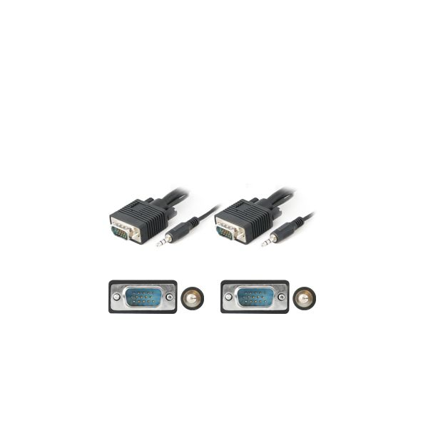 AddOn 4.57m (15.00ft) VGA Male to Male Black Cable